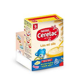 Bột Ăn Dặm Nestle Cerelac - Lúa Mì Và Sữa (200g) - Tặng Kèm Bộ Chén Muỗng Ăn Dặm