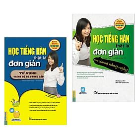 Combo 2 cuốn Học Tiếng Hàn Thật Là Đơn Giản: Trong Giao Tiếp Hàng Ngày + Từ Vựng Trình Độ Sơ Trung Cấp (Tặng kèm Bookmark Happy Life)