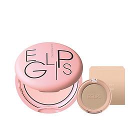 Combo Phấn phủ dạng nén Glow powder pact Highlight khuôn mặt nhẹ nhàng + Phấn tạo khối dạng nén Eglips Slim Fit Shading