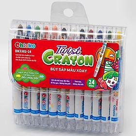 Bút Sáp Màu Xoay Chicko Cho Bé - 24 Màu (Túi Nhựa Pvc)