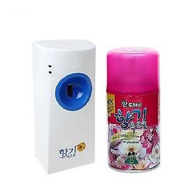 Bộ máy xịt phòng tự động + kèm chai xịt phòng cao cấp Sandokkaebi Hàn Quốc 300ml