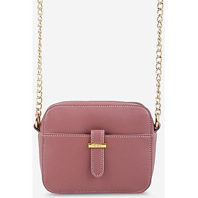 Túi đeo chéo nữ phom chữ nhật phối nịt năng động IDIGO FB2-1138-00