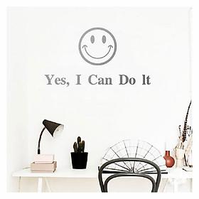 Decal dán tường chữ truyền động lực YES. I CAN DO IT