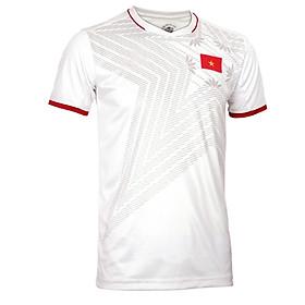 Bộ quần áo thi đấu đội tuyển Việt Nam màu trắng năm 2020, vải thun thể thao, thấm hút tốt, thoáng mát, co dãn, thoải mái vận động, kiểu dáng trẻ trung, có logo