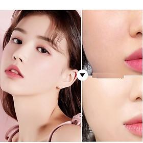 Một Hộp Phấn Phủ Dạng Bột Ba Ngăn Kiss Beauty Peach Tặng Kèm Bông Phấn-2