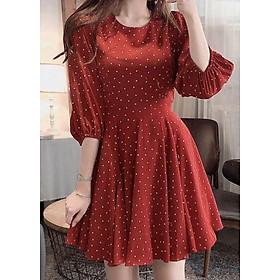 Đầm bi đỏ tay lỡ