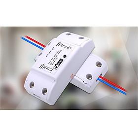 Công tắc điện thông minh có ĐKTX Wifi qua điện thoại, có đèn led- (Tặng 2 nút kẹp cao su giữ dây điện- màu ngẫu nhiên)