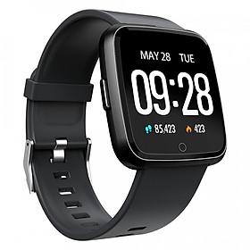 Đồng hồ thông minh theo dõi sức khỏe smartwatch Colmi Y7P dây cao su (Đen) - Hàng chính hãng
