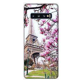 Ốp lưng điện thoại Samsung S10 Tháp Hoa
