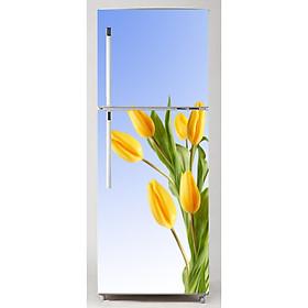 Decal dán trang trí tủ lạnh hoa tulip