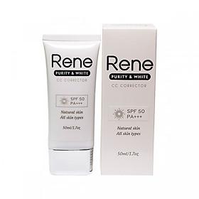Kem Chống Nắng Rene Purity & White CC Corrector SPF 50 PA +++ (50ml)
