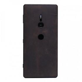 Ốp da dán cho Sony Xperia XZ2 - Da thật nhập khẩu cao cấp - Davis (Nâu bò sáp)