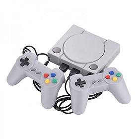 Máy chơi game điện tử 4 nút 648 trò 2 tay cầm gamer psp 2 người chơi có game 16 bit kết nối tivi 4K cổng kết nối HDMI (Màu xám )