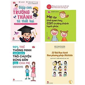 Combo 4 Cuốn Sách Nuôi Con Hay Nhất : Giúp Con Trưởng Thành Từ Thất Bại - Người Nhật Dạy Con Tự Lập, Tự Tin Và Bản Năng Sinh Tồn + 33 Bài Thực Hành Theo Phương Pháp Shichida - Giúp Phát Triển Não Bộ Cho Trẻ + Kinh Nghiệm Từ Nước Nhật - Mẹ Tập Thói Quen Hay, Con Trưởng Thành Hạnh Phúc + 90% Trẻ Thông Minh Nhờ Cách Trò Chuyện Đúng Đắn Của Cha Mẹ (Tặng kèm Bookmark Happy Life)