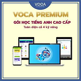 VOCA PREMIUM: Tài khoản học tiếng Anh toàn diện, không giới hạn - giúp Thành thạo 4 kỹ năng (Nghe + Nói + Đọc + Viết) - Thư viện 500+ khoá học tiếng Anh cao cấp - Thời gian sử dụng 18 tháng - Hỗ trợ trên cả Máy tính, Smartphone