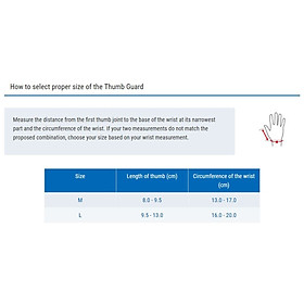ZAMST Thumb Guard (Thumb support) Đai hỗ trợ/ bảo vệ ngón tay cái-1