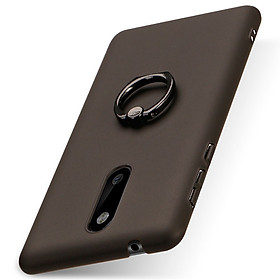 Hình đại diện sản phẩm Nokia 8 Case Solid Color Matte Ring Stand Non-slip Shockproof Back Cover For Nokia 8