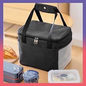 Túi đựng hộp cơm văn phòng, túi du lịch, túi dả ngoại cho mẹ và bé. Túi giữ nhiệt đa năng nhiều lớp. Túi đựng đồ ăn trưa, dày dặn, có tay xách