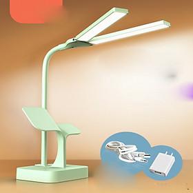 Đèn học, đèn đọc sách LED 550TD3 chống cận để bàn cao cấp Pin 2500mah, 3 chế độ sáng, ánh sáng vàng bảo vệ mắt (kèm cục sạc và dây )