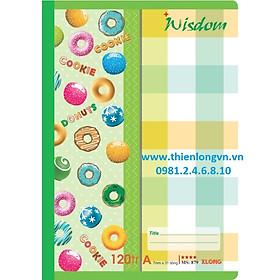 Vở kẻ ngang Wisdom - 120 trang; Klong 879 bìa xanh lá
