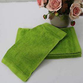 Combo 5 Khăn Làm Nail Cotton Nam Phong 34*34cm - màu Xanh Rêu-1