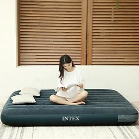 INTEX 2019 new 64731 line pull air mattress camping air bed outdoor mat home air bed lunch break recliner single folding bed 76*191*25cm