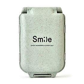 (Toponeto) Compartment Travel Pill Box straw Tablet Medicine Storage Dispenser Care Tool