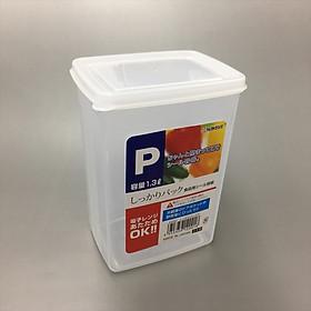 Hộp nhựa PP cao cấp đựng thực phẩm 1.3L - Hàng nội địa Nhật