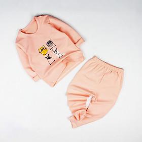 Đồ bộ thun cam in 4 con mèo cho bé gái 0.5-4 tuổi từ 6 đến 20 kg 02748-02752