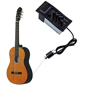 4-Band Acoustic Guitar EQ Equalizer Tone and Volume Amplifier Preamp Pickup