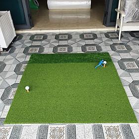 Thảm Tập Swing Golf  ECO [1,25m x 1,25m] : Cao cấp, Đàn hồi tốt, có cỏ tập chíp, kèm Tee cao su.