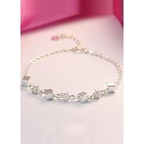 Hình đại diện sản phẩm Lắc tay bạc nữ khối lập phương LTN0106