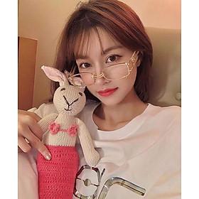 Kính xinh, Kính Mắt vuông Trong suốt cao cấp Phong cách Hàn Quốc + tặng tuavit Kính Xinh mini