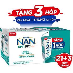 Thùng 24 hộp Sữa pha sẵn Nestlé® NAN® OPTIPRO® Kid Hộp pha sẵn 180ml ( 3x(8x180ml) ) - Mua 7 tặng 1