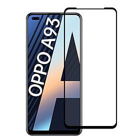 Miếng Dán Kính Cường Lực Bảo Vệ Màn Hình Điện Thoại Cho OPPO A93 - Màu Đen - Full Màn Hình - Hàng Chính Hãng