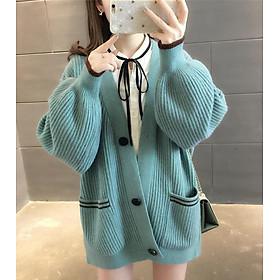 Áo khoác len tay bồng