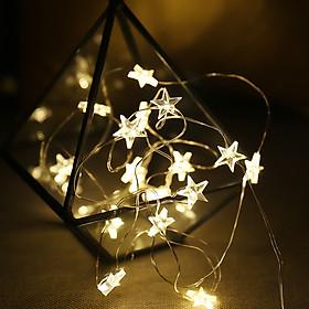 Dây đèn led ngôi sao 30 bóng dài 3m trang trí tết năm mới nhà cửa phòng ngủ sinh nhật buổi tiêc GIVASOLAR GV-ML2