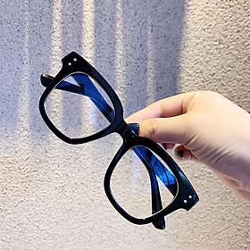 Kính cận thời trang mắt vuông bảo vệ mắt chống ánh sáng xanh mắt không độ có thể thay được tròng cận