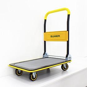 Xe đẩy hàng 4 bánh SUMIKA T150 - Khung thép, tay cầm gấp mở tiện lợi, tải trọng 150kg