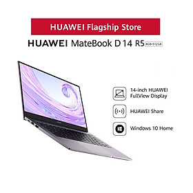Máy Tính Xách Tay Huawei Matebook D14 R5 (8GB+512GB) | Hệ điều hành Windows 10 | Màn hình HUAWEI Fullview 14-inch | Phím Nguồn Kết Hợp Bảo Mật Vân Tay | Hàng Phân Phối Chính Hãng