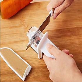 Đá mài cao cấp, tay cầm bằng nhựa an toàn tuyệt đối giúp mài sắc dao nhanh chóng và tiện lợi  -  Hàng nội địa Nhật