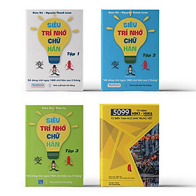 Combo 4 sách: Bộ 3 tập Siêu Trí Nhớ Chữ Hán + 5099 Từ Vựng HSK1 – HSK6 Từ Điển Tam Ngữ Anh – Trung – Việt