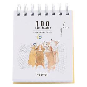 Sổ Kế Hoạch Lò Xo 100 Ngày - 100 Days Daily Planner Notebooks - Thể Thao 4 (10.6 x 12.4 cm)