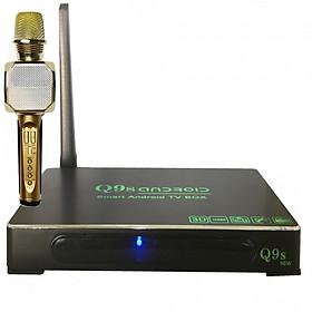 Hình đại diện sản phẩm Android Tivi Box Ultra HD Q9s New tặng Micro kèm loa Bluetooth Karaoke SD-10