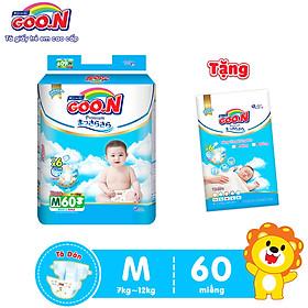 Tã Dán Goo.n Premium Cao Cấp Gói Cực Đại Size M60 (60 Miếng) - Tặng Bịch 5 Miếng Cùng Size
