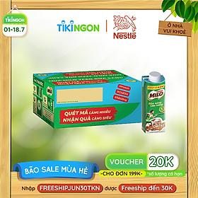 [Chỉ Giao HCM] [Phiên bản Scan mã đổi quà] Thùng 24 hộp sữa lúa mạch Nestlé Milo Teen bữa sáng (24x200ml)