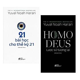 Combo Sách Lịch Sử Thế Giới Bán Chạy:  21 Bài Học Cho Thế Kỷ 21 + Homo Deus - Lược Sử Tương Lai (Bộ 2 Cuốn The #1 International Bestseller / Tặng Kèm Bookmark Happy Life)
