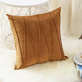 Gối Tựa Lưng Sofa Trang Trí Nhung Dập Sọc Ziczac