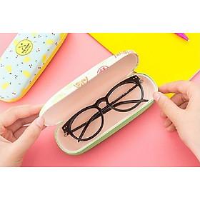 Hộp đựng kính thời trang, hộp đựng mắt kính, hộp đựng gọng kính 16.5 x 6 cm, nhiều mẫu giao ngẫu nhiên+ Tặng kèm quà