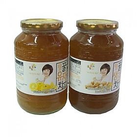 Combo 2 hũ trà thanh yên và trà gừng mật ong Kkoh Shaem Food nhập khẩu Hàn Quốc 1kg